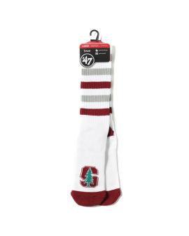Stanford Cardinal stripe socks