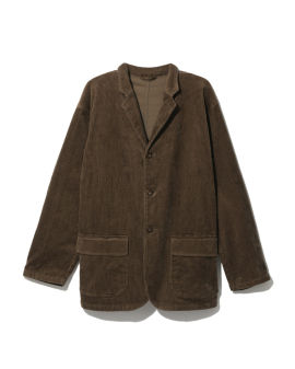 Corduroy buttoned jacket