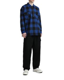 Half-zip check shirt