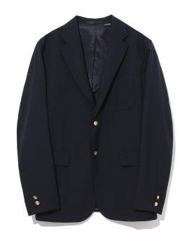 Embossed button blazer
