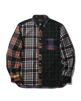 Checked panel shirt
