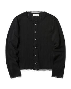 Pointelle knit cardigan