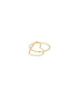 Open heart brass ring