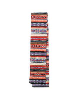 X Robert Mackie jacquard knit scarf