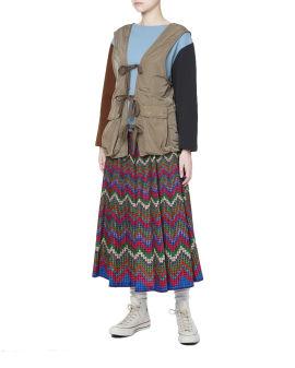 Self-tie detail vestcoat