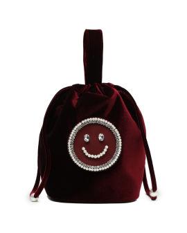 Smile face embellished bag
