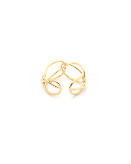 Twisted open ring
