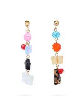 Mismatching drop earrings