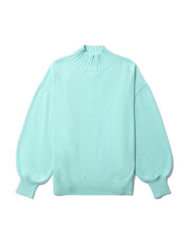 Dropped shoulders knit sweater