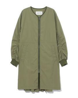 Zip-up pleated jacket