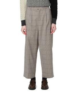 Check straight pants