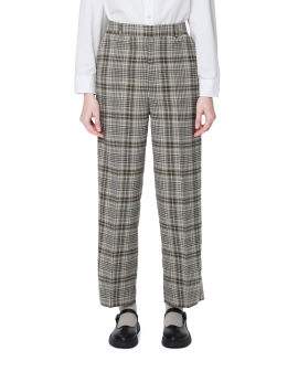 Patterned straight pants