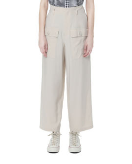 Wide leg pocketed pants