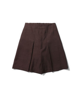 Pleat ed front shorts