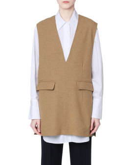 Relaxed-fit vest
