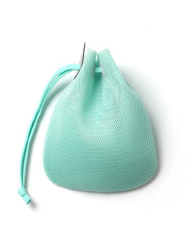 Drawcord small mesh pouch