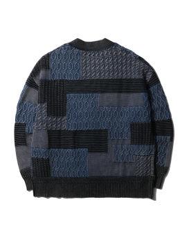 Mixed pattern cardigan