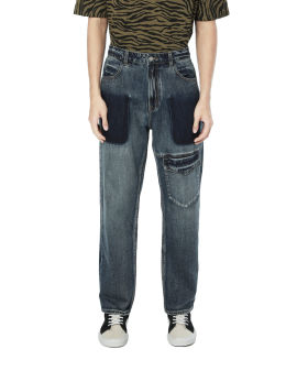 Panelled pocketed jeans