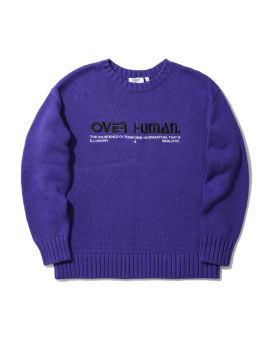 Slogan embroidered sweater