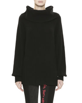 Turtleneck loose needle-knitted sweater