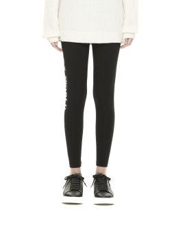 Letter printed skinny leggings
