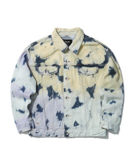 Denim paint splatter jacket