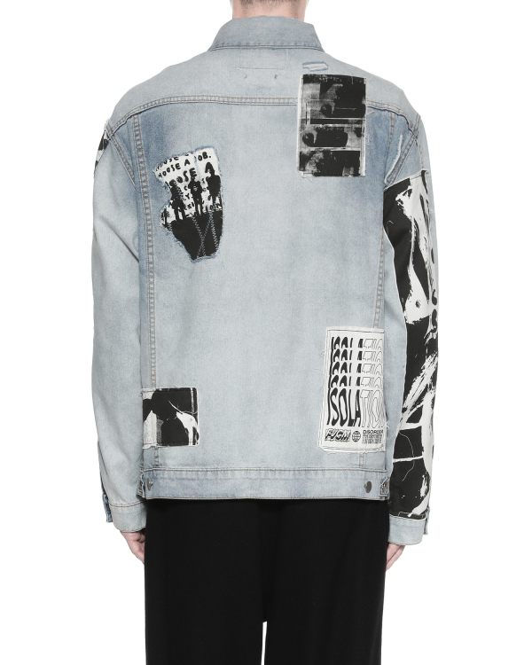Photo patched denim jacket