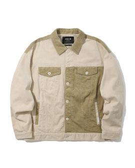 Panelled corduroy jacket