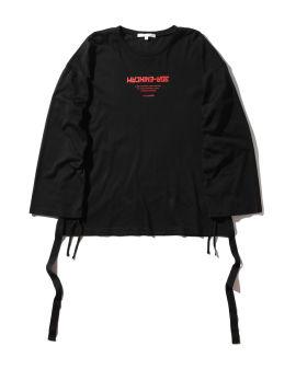 Slogan print dropped shoulder T-shirt