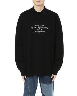 Cotton jersey slogan long-sleeve tee