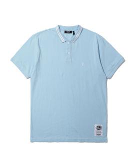 Stripe logo polo shirt