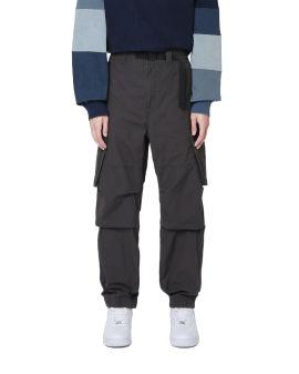 Canvas buckle pants