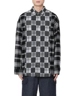 Printed patchwork shirt