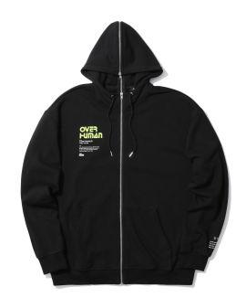 Over Human zip panelled hoodie