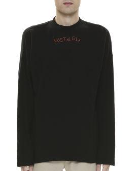Letter-stitched sweatshirt