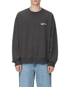 Terry acid wash sweatshirt