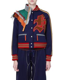 Panelled varsity jacket