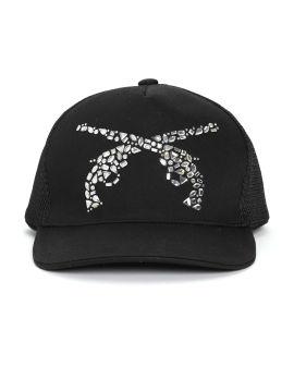 Crystal logo cap