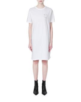 Strass logo t-shirt dress