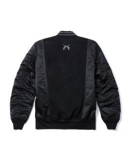 Logo bomber jacket