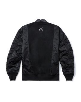 Text print bomber jacket