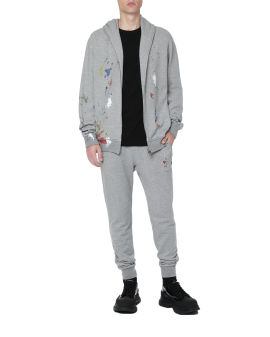 Printed embellished sweatpants