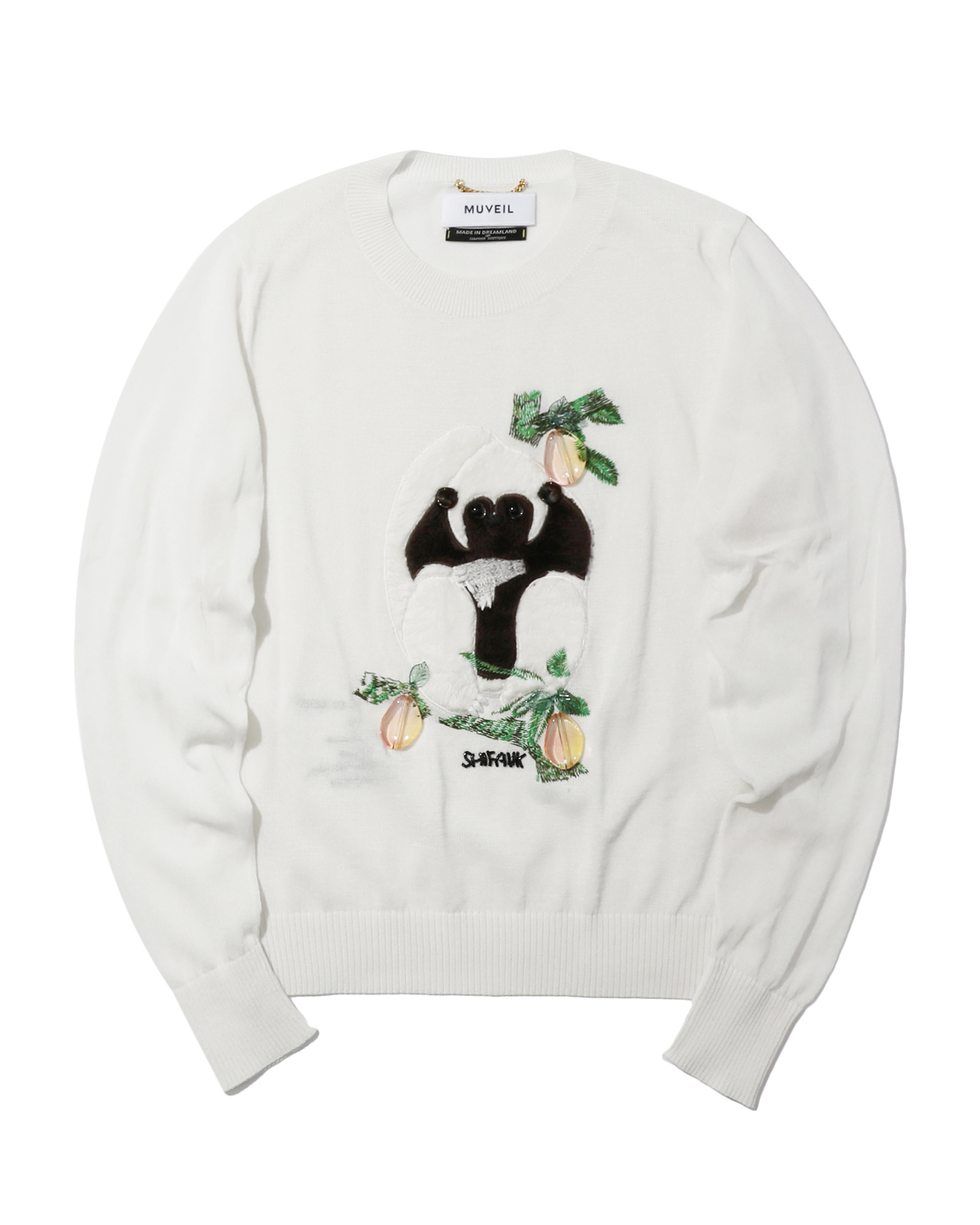 MUVEIL | Graphic Embellished Sweater | Goxip