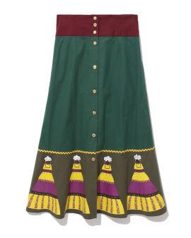 Colour block skirt
