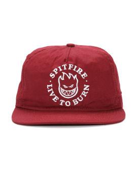 Logo embroidered snapback cap