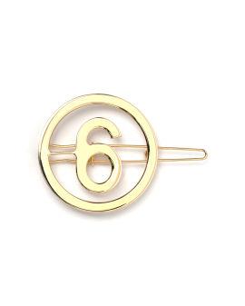 Logo hair pin