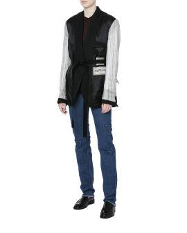 Mix fabric reversible jacket