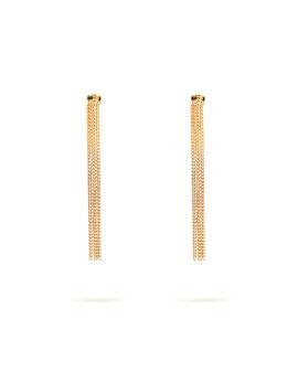 Two-tone fringe earrings