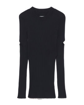 Ribbed cut-out top