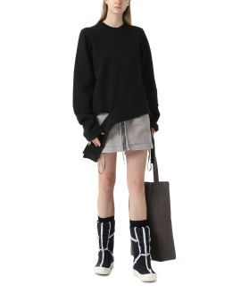 Long cut-out sweatshirt